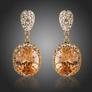 Rose Gold Earrings Champagne Cubic Zirconia earringsOrange Drop Fashion Earrings