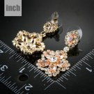 Bridal Orange Earrings Pageant Bridal Crystal Chandelier Long Drop Earrings