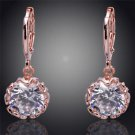 Fashion Jewellery Gold Filled Clear Austrian Crystal Dangle Earrings