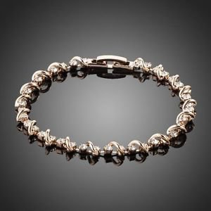Rose Gold Bracelets Cubic Gold Plated Stellux Austrian Crystal Gold Bracelet