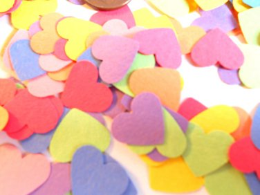 Heart confetti colorful confetti hearts for party supplies or wedding supplies paper confetti