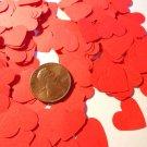 red hearts confetti hearts party supplies wedding supplies heart confetti