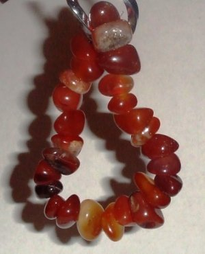 Carnelian Shade Stone Bracelet