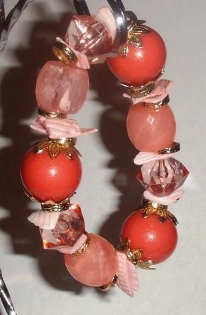 Chunky Peach Bracelet