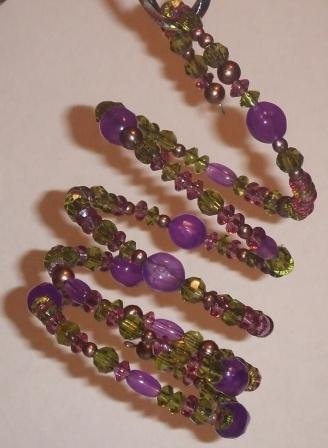 Purple/Green Spiral Bracelet