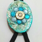 Bolo tie turquoise with gun primer