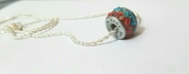 Gun primer gemstone wheel charm