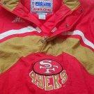 NFL San Francisco 49er pull over jacket, size large,Vintage, super condition