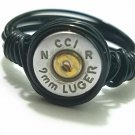 Bullet casing wire ring black Cooper