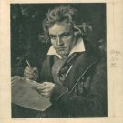 Ludwig van Beethoven in a portrait. - 8x10 photo