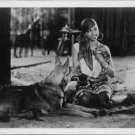 Josephine Baker with a dog.  - 8x10 photo