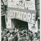 "World War II. Charlie Chaplin´s ""The Great Dictaror"" shown in liberated Rome. -"
