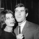 Sophia Loren with a man, smiling. - 8x10 photo