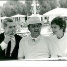 Federico Fellini with Marcello Mastroianni and woman. - 8x10 photo