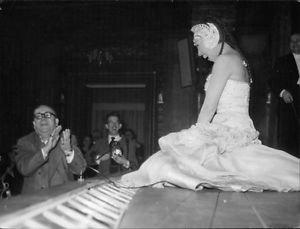 Josephine Baker laughing.  - 8x10 photo