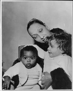 Josephine Baker with children.  - 8x10 photo