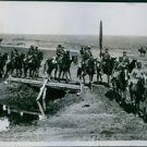 Soldiers riding in the field during Balkan wars, 1913. - 8x10 photo