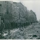 U.S. troops enter Schweinfurt. - 8x10 photo