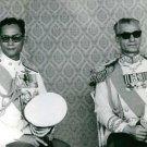 Mohammad Reza Shah Pahlavi with a man.  - 8x10 photo