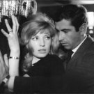 Monica Vitti and Roger Vadim on film set. - 8x10 photo