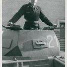 World War II. German tank soldier - 8x10 photo