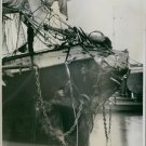 A destructed ship on the water. 1935 - 8x10 photo