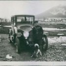 """Rene Fonck standing beside a vehicle and looking towards the camera.""""Rene Fonc"""