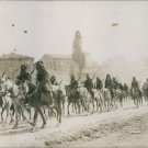 Soldiers riding a horses in the dessert land during First World War, 1914. - 8x1