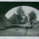 Photo of a destroyed small town in Belgium. - 8x10 photo