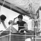 Paul McCartney on a boat. - 8x10 photo
