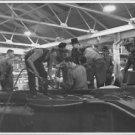 Winston Churchill in a factory. - 8x10 photo