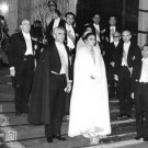 Mohammad Reza Shah Pahlavi and Farah Pahlavi present themselves to the public. -