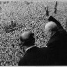 Winston Churchill waving hand. - 8x10 photo