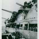 Showing some of the last survivors on board H.M.S. Ark Royal just before they we