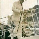 Winston Churchill at boat. - 8x10 photo