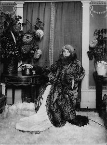 Sarah Bernhardt relaxing. - 8x10 photo
