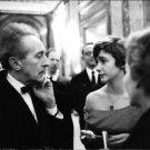 Francoise Sagan talking to Jean Cocteau. - 8x10 photo