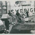 World War II. U.S. Food for Greek Civillans - 8x10 photo