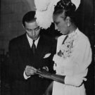 Josephine Baker at her wedding with Jo Bouillon.  - 8x10 photo