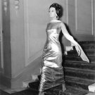 Ludmilla Tcherina, in a golden dress, with her scarf, swaying. - 8x10 photo