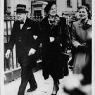 Winston Churchill going with wife. - 8x10 photo