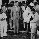 Mahatma Gandhi with people - 8x10 photo