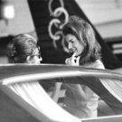 Jacqueline Kennedy Onassis talking to Artemis Garoufalidis.  - 8x10 photo