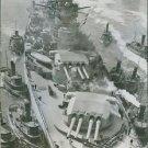 French Battleship Richelieu in New York, 1943. - 8x10 photo