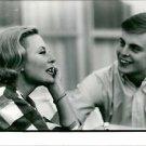 Michèle Morgan with a man. - 8x10 photo