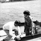 Maria Callas with man at boat. - 8x10 photo