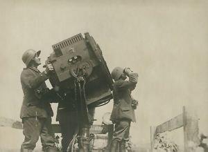 World War I. German military looking for warplane. - 8x10 photo