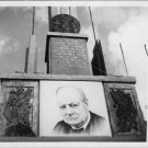 Winston Churchill's poster at wall. - 8x10 photo