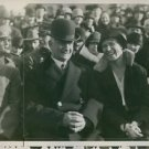 Elsa Brandstrom siting with people in crowd, 1928. - 8x10 photo