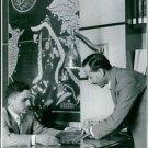 Man communicating with Hussein bin Talal.  - 8x10 photo
